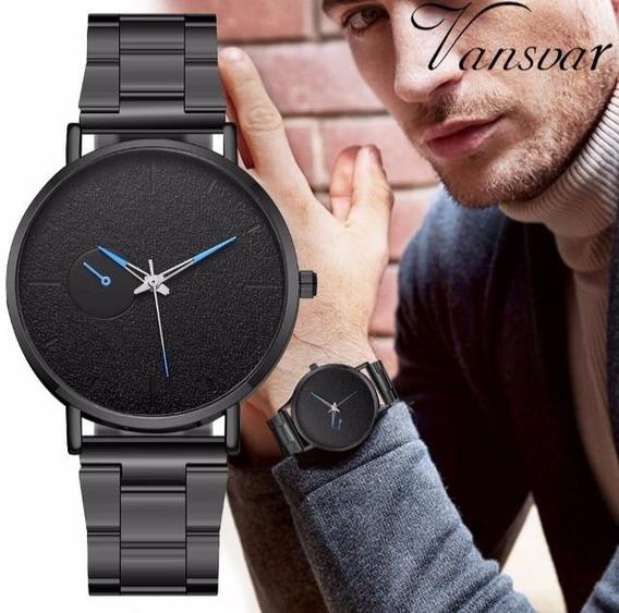 Relógio Quartzo Black Blue