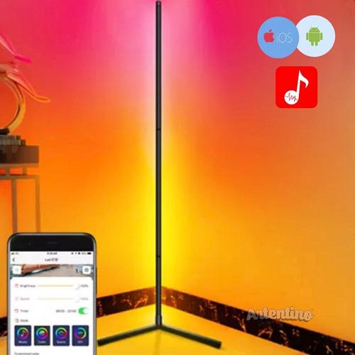 Imagen 1 de 10 de Luz Lampara Pie Esquinero Pixel Led Rgb Regalo Deco App Wifi