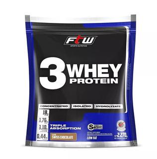 3 Whey Protein Concentrado Isolado Hidrolizado Choco 2,270g