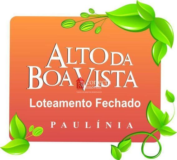 Terreno À Venda, 390 M² Por R$ 250.000,00 - Condomínio Alto Da Boa Vista - Paulínia/sp - Te0199