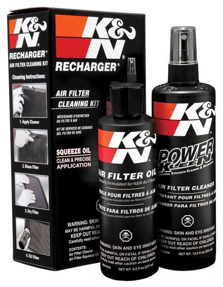 Kit Limpeza Filtro De Ar 99-5050 K&n Recharger K N Squeeze