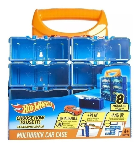 Hot Wheels Valija Estuche Para Autos 8 Modulos Hwcc8a