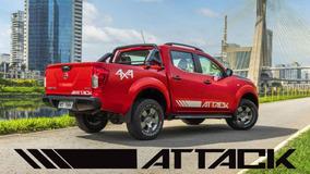 Kit 5 Faixa Lateral Adesivos Nova Nissan Frontier Attack