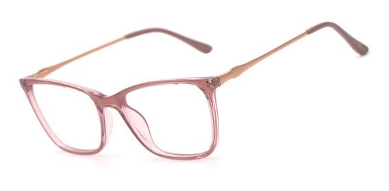 Armação Oculos Ogrife Og 1656-c Feminino Com Lente Sem Grau