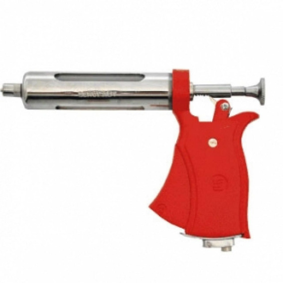 Pistola Veterinaria Seringa Dosadora Vermelha Servi 50ml Aut S/ Acessorios