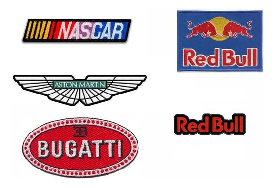 5 Parches Bordados Marcas Y Emblemas Autos
