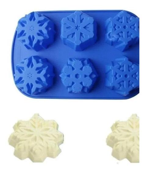 Molde De Silicona Para Galletitas Copo De Nieve O Jabón