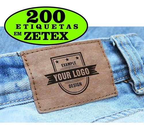 Imagem 1 de 3 de Etiqueta P/ Calças Bolsas 200 Un Personalizado Com Sua Marca