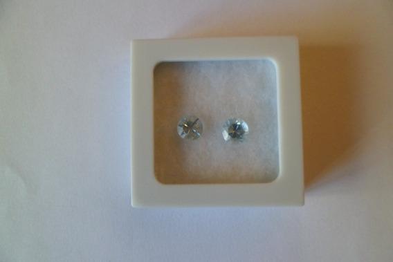 Par De Águas Marinhas Lapidação Diamante 2,5 Ct