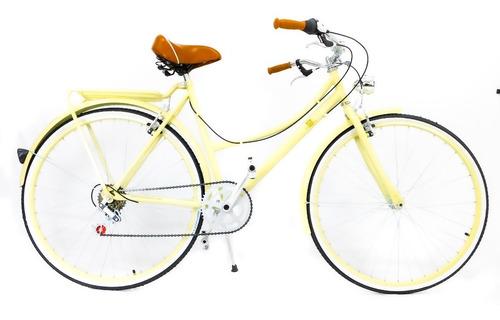 Imagen 1 de 10 de Bicicleta Urbana Clásica 6 Vel Accesorios Personalizada