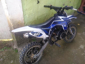 Mini Moto 2t 50cc Partida Eletrica E Pedal
