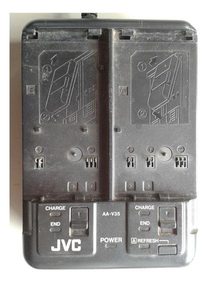 Carregador De Bateria Duplo Filmadora Jvc Aa-v35u Original