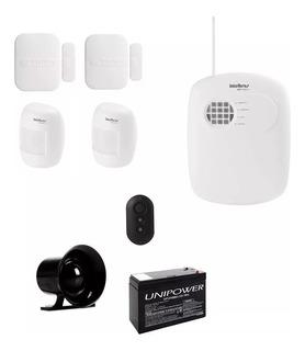 Kit Alarme Residencial Intelbras Sem Fio Com Bateria E Nf