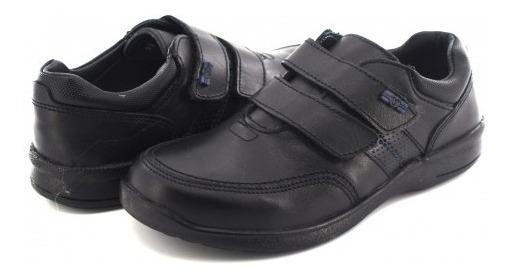 Zapato Escolaryuyin 77540 Negro Doble Velcro 22 - 25 Niños