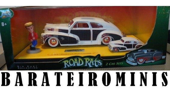 1:24 Chevy Fleetline 47 Jada Road Rats + 1:64 + 1:24 Boneco
