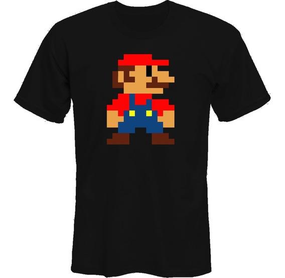 Remeras Super Mario Bros Pixel Retro *mr Korneforos*