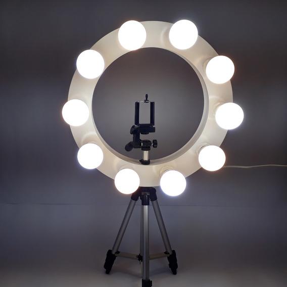 Ring Light Retrô De 400mm Ecoestiluz Com Tripé De 1,2