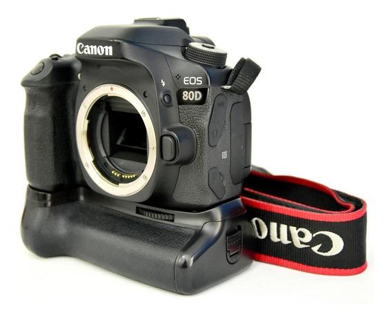 Canon 80d Corpo + Grip Meike ( 7k Clikes )