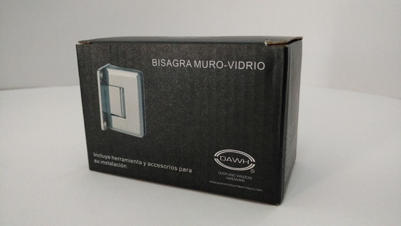 Bisagra Muro-vidrio Zamac Satín Bmvzs