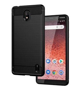 Funda Nokia 1 Plus Anti Golpes Carbono