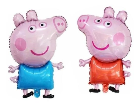 1 Globo Peppa Pig + 1 Globo George