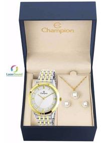 Relógio Champion Kit Feminino Ch22948d C/garantia E Nf