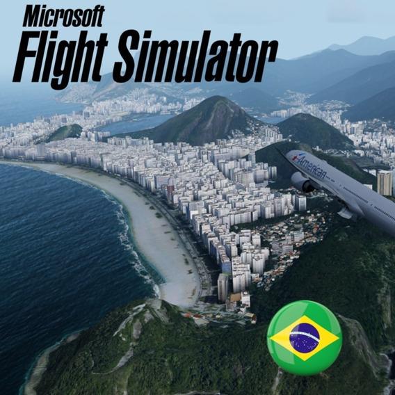 Flight Simulator X Deluxe - Fsx Completo Portugues + Brindes