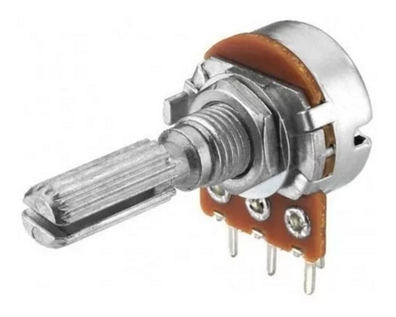 Potenciometro Rotativo Mono 500k Lineal Metalico 16mm