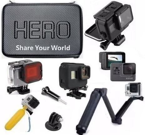 Kit P Gopro Estanque Touch Hero 6 Hero 7 Película 3 Way Case