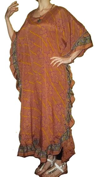 Vestido Hindú Seda Talles Especiales Original India Xxxl Xl