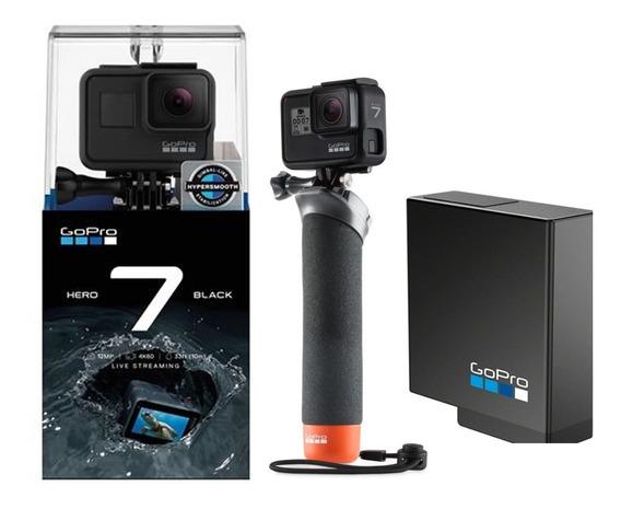 Câmera Gopro Hero7 Black + Bateria Extra + Bastao Handler
