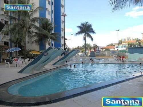 Apartamento Com 2 Dormitórios À Venda, 59 M² Por R$ 145.000,00 - Do Turista - Caldas Novas/go - Ap0798
