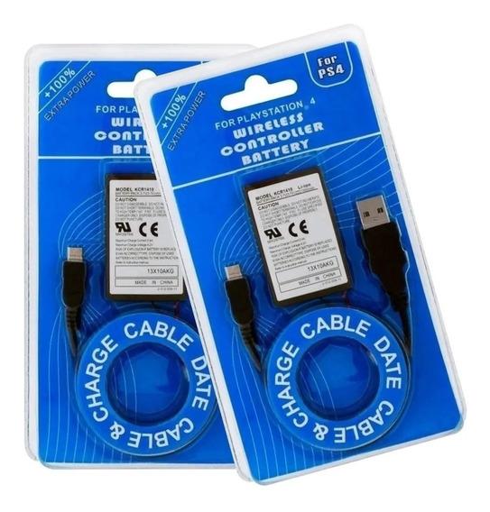 Bateria E Cabo Para Controle Ps4 Und