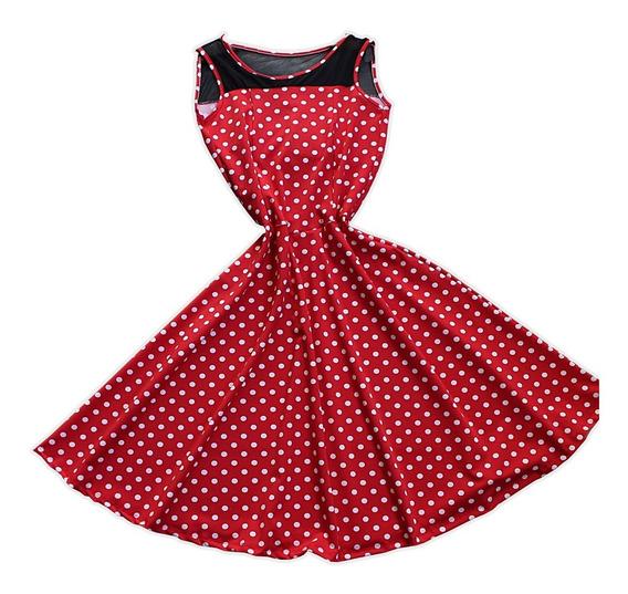 Vestido Poa Vintage Bolinhas Rodado Boneca Anos 50 60 2705