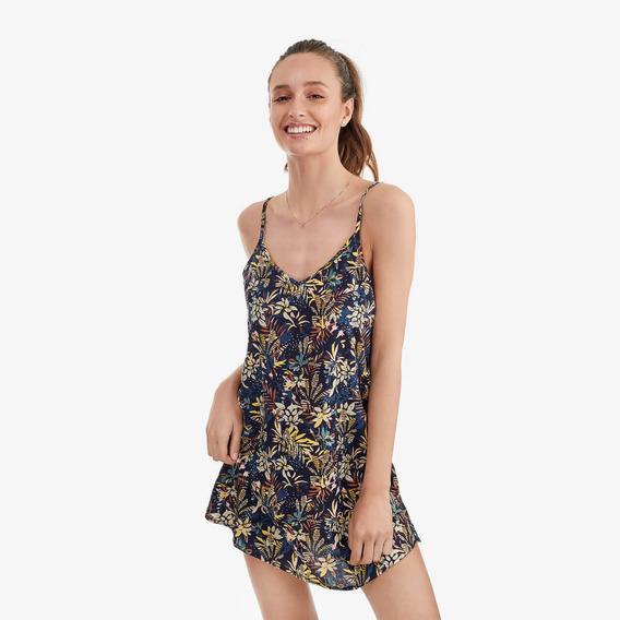 Camisa Dormir Mujer Tropical Navy Lounge