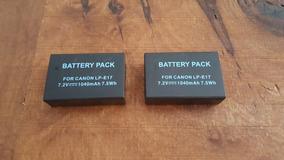 2 Baterias Lp-e7 - E7 - T6i - T7i
