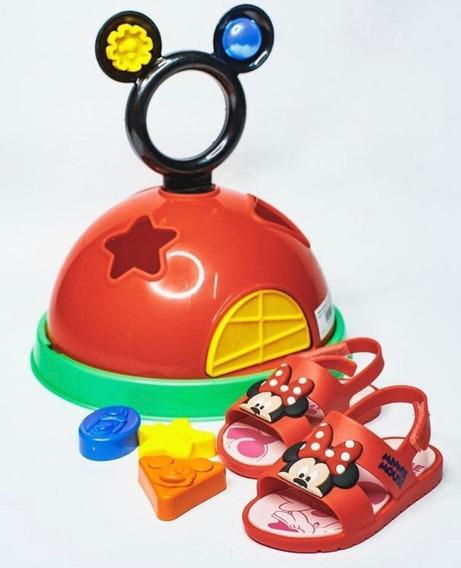 Sandália Infantil Grendene Casa Do Mickey