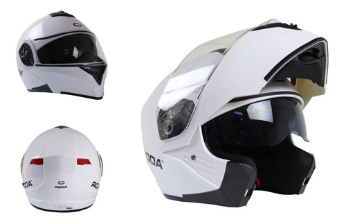 Casco Roda Luminar Abatible Luz Led Gafas Certificado Dot