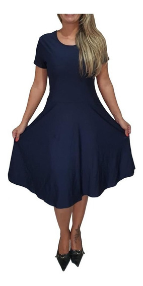 Vestido Gode Plus Size Evangelico Feminino Rodado