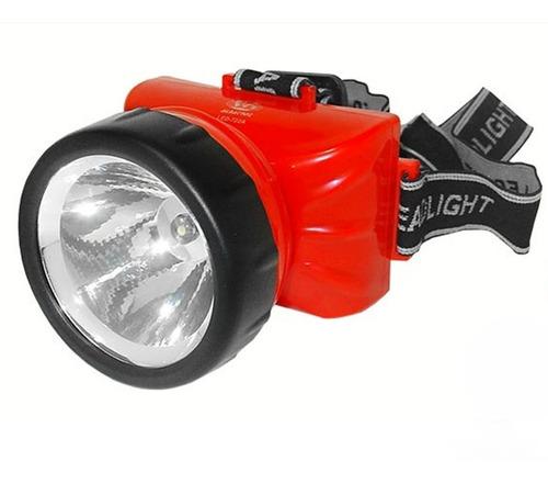 Imagem 1 de 5 de Lanterna De Cabeça 722 A Com 1 Led Recarregável - Albatroz