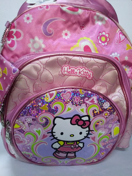 Mochila Hello Kitty Grande Espalda Con Monedero 17 Sanrio