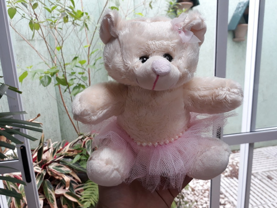 Ursinha 20cm Ursa Presente Menina Mini Pelúcia Bailarina