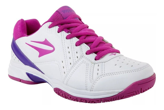 Zapatillas Topper Tenis Lady Rookie Mujer Blanco Negro Viole