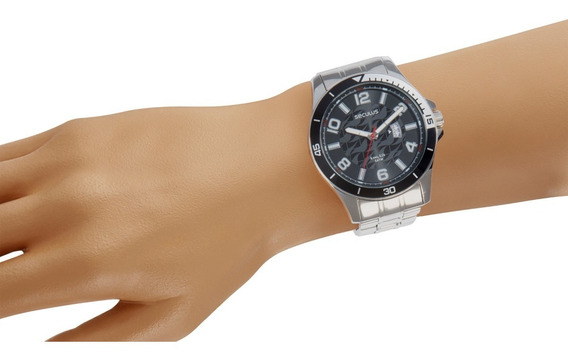 Relógio Seculus Masculino 28990gosvna1