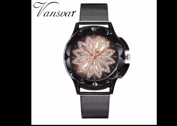 Promoção Relógio Feminino Vansvar, Muito Elegante + Brinde
