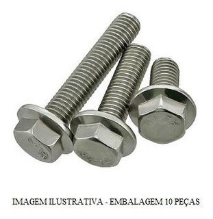 Parafuso Sext Flange M6x25 Cabeca 8mm Tribal Pacote 10 Pcs H