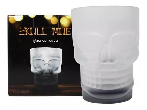 Caneca Fosco Caveira Skull Mug C/ Base Preta 500ml