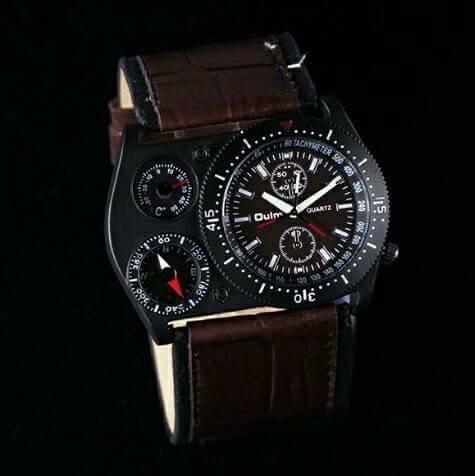 Relógio Militar Oulm - Bússola E Termômetro