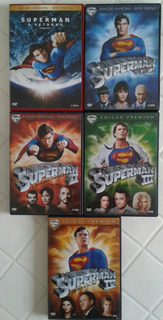 Superman 05 Filmes Em 09 Dvds - Promoção