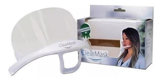Máscara De Proteção Clearmask Estek Preserva Maquiagem